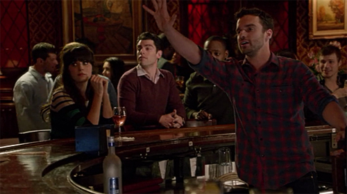 "A scene from ""New Girl."""