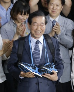 Mayor Park Won-soon,  at his office in Seoul, South Korea (AP Photo/Lee Jin-man)
