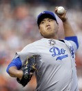Dodgers starter Ryu Hyun-jin signed a six year $36 million contract in 2013. (AP Photo/Ben Margot)