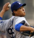 Los Angeles Dodgers starting pitcher Ryu Hyun-Jin (AP Photo/Gene J. Puskar)