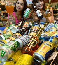 Imported beers are getting increasingly popular in Korea. (Newsis)