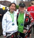 Maggie Kim, left, with Mari Jo Steiner at the 2011 Seattle Rock 'n' Roll Half Marathon. (LifeCenter Northwest)