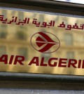 The logo of the Air Algerie company office, at the Opera avenue in Paris Thursday July 24, 2014. A flight operated by Air Algerie has disappeared from radar while traveling from Burkina Faso in West Africa to Algiers. Authorities say it was carrying over 100 passengers and crew when air navigation services lost track of the Swiftair plane 50 minutes after takeoff earlier this morning. (AP Photo/Remy de la Mauviniere)