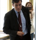 Peter Harrell, deputy secretary for counter threat finance and sanctions at the U.S. State Department, arrives at the Ministry of Foreign Affairs on July 29, 2014, for a meeting with officials over sanctions against Russia. (Yonhap)