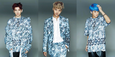 """From left, Hyuk, the youngest of the VIXX members, N, leader and Ravi pose in the photo for fourth single """"Eternity."""""""