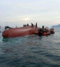 The accident took place at 4:32 p.m. in waters about 1.5 kilometers off the southern Geoje Island. (Yonhap)