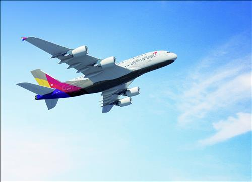 Asiana Airlines A380 super jumbo. (Yonhap file photo)