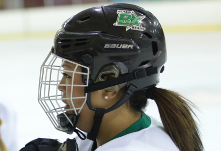 Bree Doyle, who was adopted by a U.S. family when she was a baby, returned to Korea in June to represent her birth country as a hockey player.  (Korea Times photo by Nam Hyun-woo)