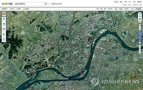 Daum Communications Corp., South Korea's No. 2 online portal, launches a North Korean map service on Aug. 29, 2014. (Photo courtesy of Daum)