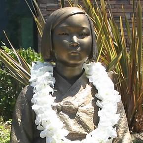 Glendale's comfort woman statue (Yonhap)