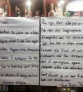 A sign is posted on the entrance of JR Pub in Itaewon, Seoul, to apologize for banning Africans. (Korea Times)