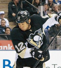 Richard Park played his final season with the Pittsburgh Penguins. (Korea Times file)