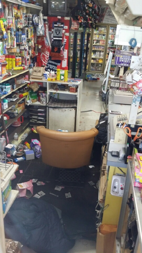 Behind the counter at Hot Stop, located at 11 Williams Rd. in Salinas