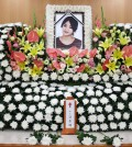 A photo of Ladies' Code member Go EunB at her funeral Wednesday following her death in a car accident. (Yonhap)
