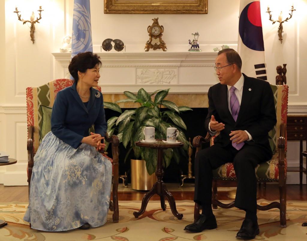Park Geun-hye, Ban Ki-moon