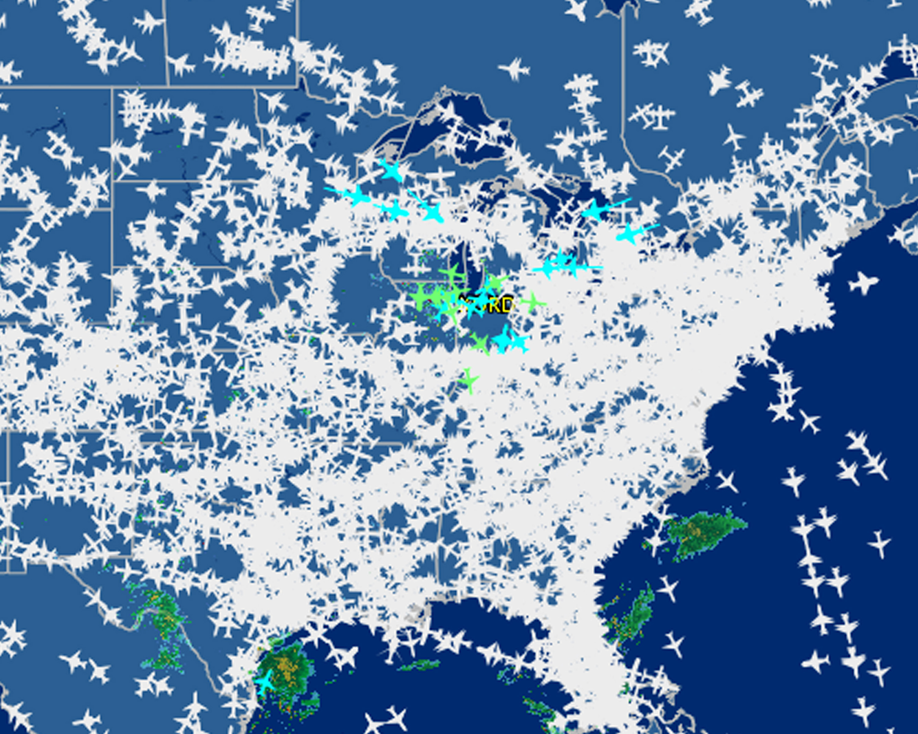 Air Travel Delays Map