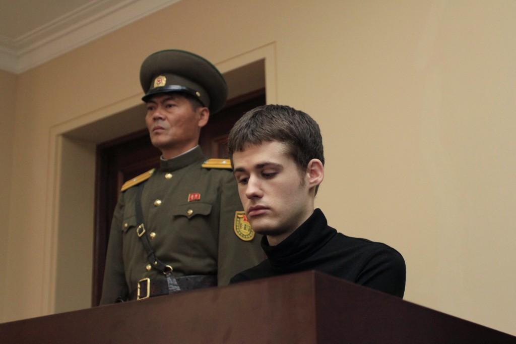 A trial of American citizen Miller Matthew Todd was held at the DPRK Supreme Court in Pyongyang, DPRK, on Sunday, September 14th, 2014 (AP Photo/Kim Kwang Hyon)