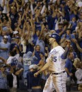 The Kansas City Royals are going into Tuesday's game with an unbeaten 2014 postseason record (AP Photo/Charlie Riedel)