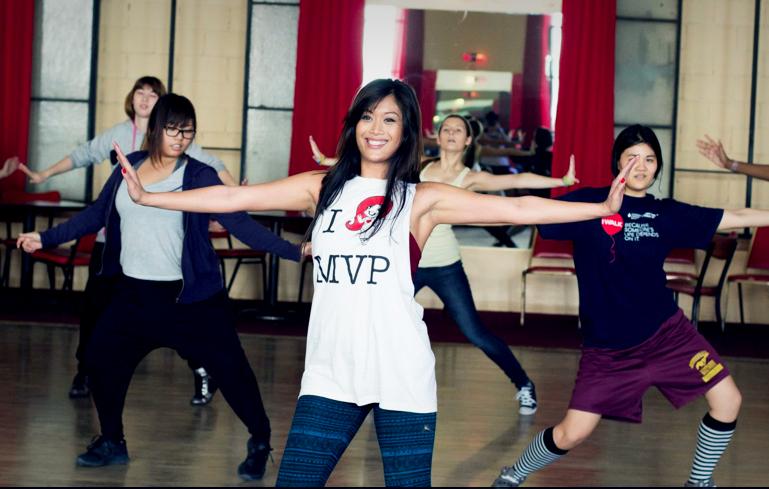 Aimee Lee Lucas during an MVP dance class. (Courtesy of Aimee Lee Lucas)