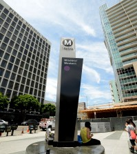 Wilshire-Western Metro station in Koreatown, where the memorial will stand.