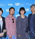 "Speaks onstage at ""City To City"" press conference during the 2014 Toronto International Film Festival at TIFF Bell Lightbox on September 10, 2014. From right to left: Directors Kim Sung-hoon, Jung Joo-ri, Park Jung-beom, Bu Ji-young."