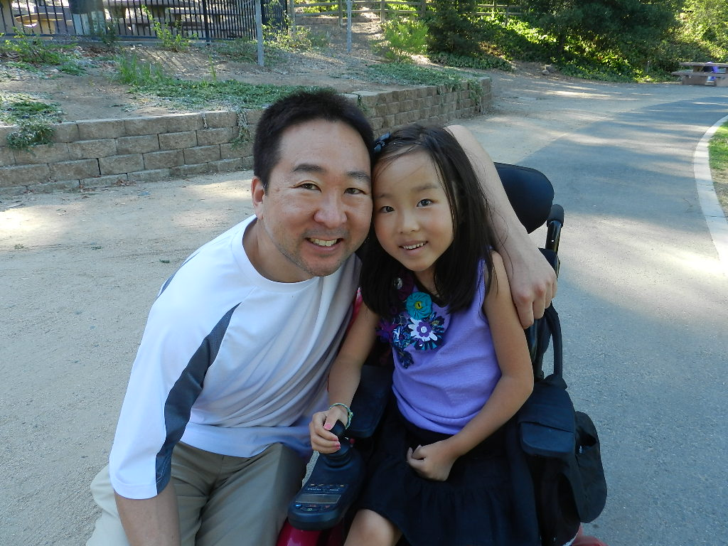 Andrew Kim, left, with his daughter Sophie. (Courtesy of Andrew Kim)
