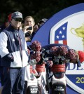 US team captain Tom Watson stands on the 16th tee box during a practice round ahead of the Ryder Cup golf tournament at Gleneagles, Scotland, Wednesday, Sept. 24, 2014. (AP Photo/Matt Dunham)