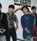 Big Bang attends a party introducing YG and Samsung's fashion brand NONA9ON Friday in Seoul. (Yonhap)