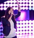 "Clara Hong performs on ""The Voice 2014 Blind Audition."" (Screen capture)"