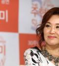 Joo Hyun-mi smiles during a press confernece in Seoul on Aug. 26. (Yonhap)