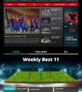 Screenshot of the K-League's English website.