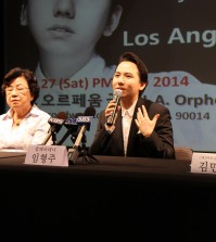 During the press conference at the Korean Cultural Center in Los Angeles, Lim made a surprise announcement that he will be performing at the 41st Annual Korean Festival's closing ceremony on Sunday. (The Korea Times / Park Hyun-jung)