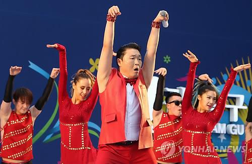South Korean pop star Psy. (Yonhap)
