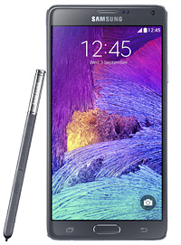 "The ""Galaxy Note 4."" Samsung Electronics plans to roll out the handset for the global market in October. (Courtesy of Samsung Electronics)"