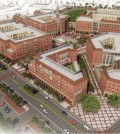 This undated architectural rendering provided by the University of Southern California shows the 15-acre USC Village that will be built in the architectural style of much of the main campus. The village will comprise 1.25 million square feet of residential and retail space over 15 acres on the north side of the University Park Campus. USC Village will open in fall 2017. The project is estimated to cost $650 million.