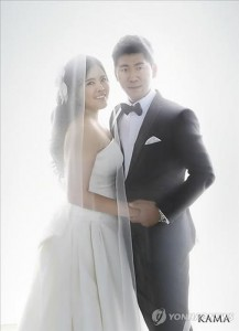Park In-bee married her swing coach, Nam Gi-hyeob,
