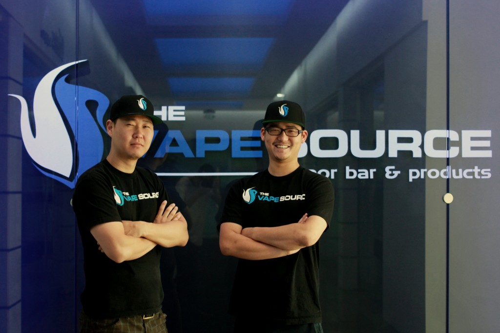 Glenn Lee, left, and Jason Lee, co-owners of The Vape Source in Los Angeles