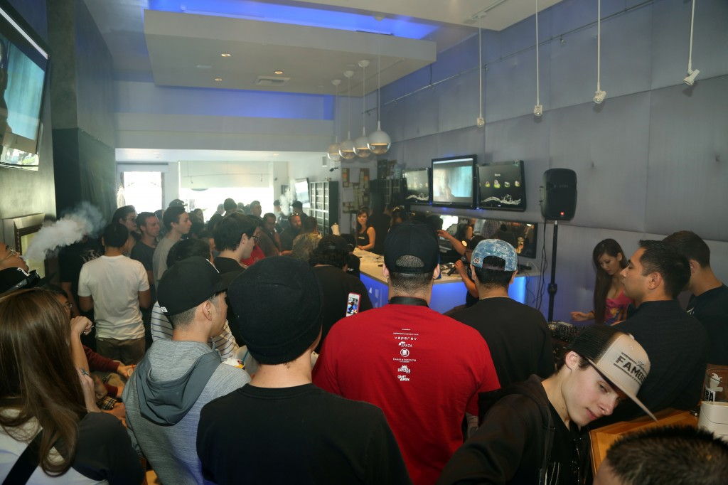 An event held at their Wilshire Blvd. location (The Vape Source)