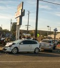 The scene of the accident in Long beach. (Photo courtesy of Teresa McCauley via Long Beach Post)