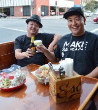 Escala Owner Chino, left, and Chef Chris Oh. (Tae Hong/The Korea Times)