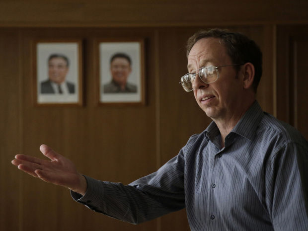 Jeffrey Fowle, an American detained in North Korea, has been released. (AP Photo/Wong Maye-E)