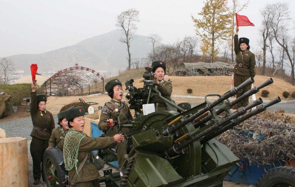 This is the machine gun believed to be used by the North Koreans on Friday. (Yonhap)