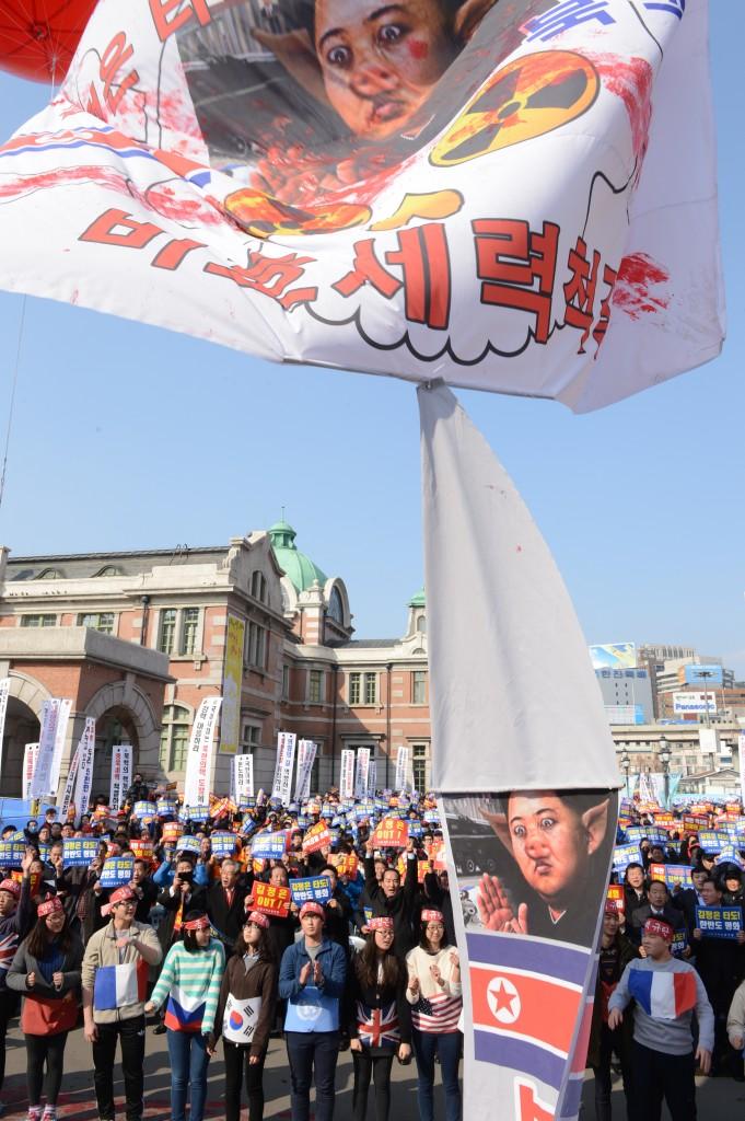 protest, kim jong-un