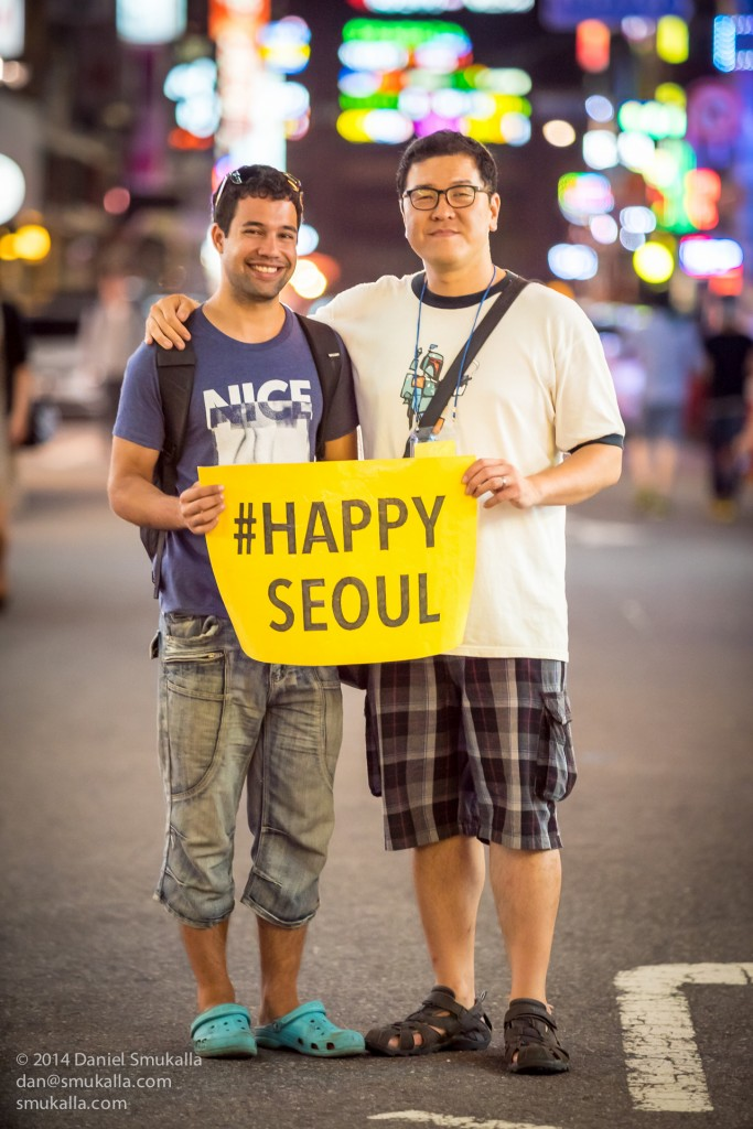 """#HappySeoul"" co-producers Raoul Dyssell and Allan Choi"