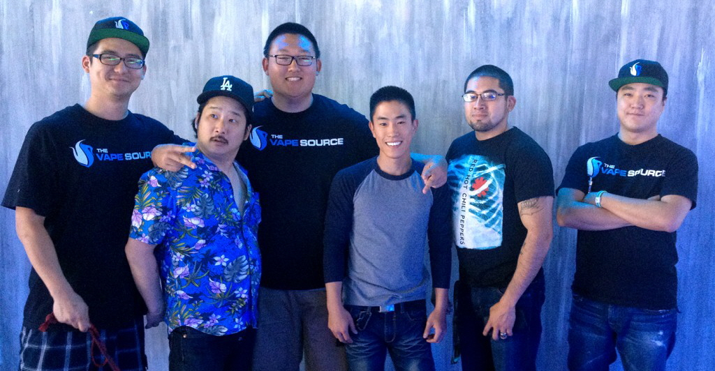 Jason Lee, left, actor and comedian, Bobby Lee, second from left. (The Vape Source)