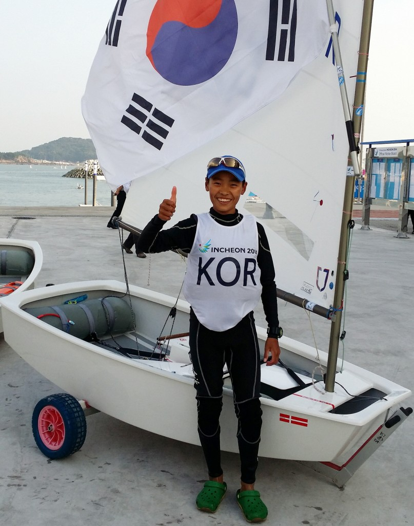 14-year-old Park Sung-bin became the youngest South Korean gold medalist. (Yonhap)
