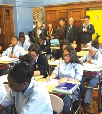 Democracy Prep students attend a Korean class.  (Courtesy of Korean Education Center NY)