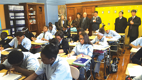 Democracy Prep students attend a Korean class.  (Courtesy of Korean Education Center NY)