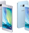 Samsung unveiled Galaxy A5, left, and A3. (Yonhap)