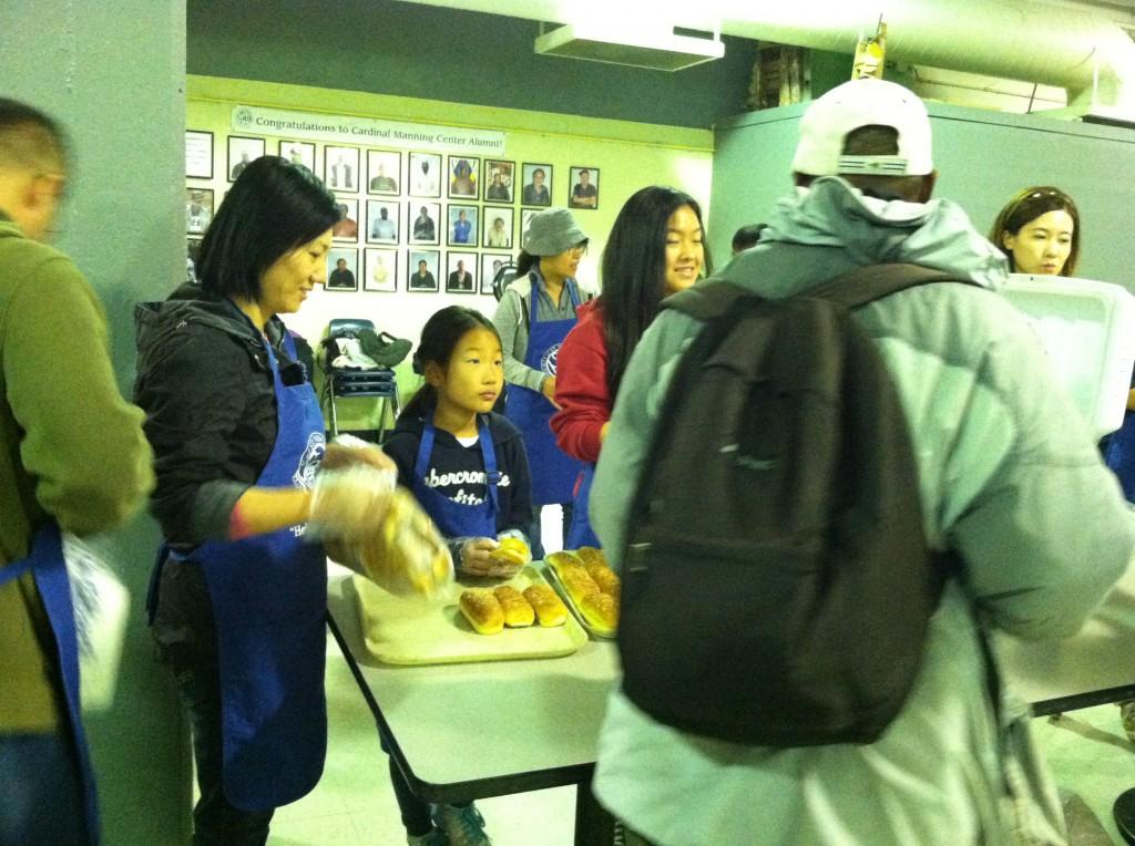5...Jihee, 9, helps feed the homeless.